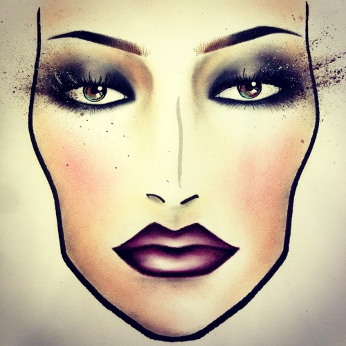 "studiobriandean:  Face chart for MAC's summer collection experience: ""Temperature Rising"""
