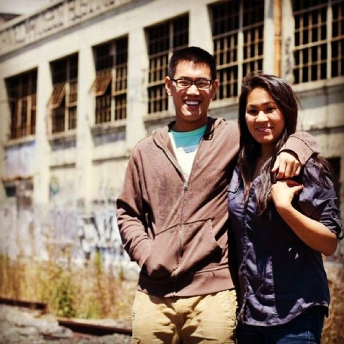 Photo session with my sister and friends in a #ghetto train yard in #Berkeley, California back in #July. Photo courtesy of Anthony Phan. #Family #ThrowbackThursday #Siblings