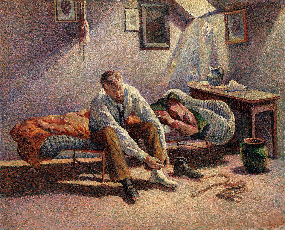 Today's ♨ Birthday: Maximilien Luce (March 13, 1858 – February 6, 1941)  Morning Interior, 1890 The Metropolitan Museum of Art