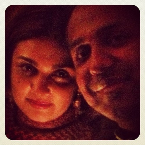 A quiet moment with my wife, Roopa (@roopaonline on Twitter). Encourage her to do Instagram, folks!