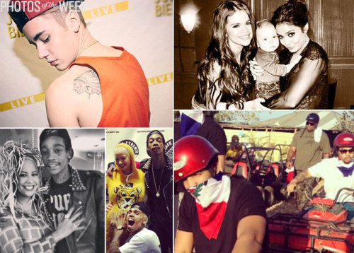 "Justin Bieber showed off a new tattoo, Usher hit the gym, Selena Gomez and Vanessa Hudgens snapped a babysitting pic, the ""Glee"" kids supported Chris Colfer's new movie, Jessica Simpson & Jennifer Hudson repped for Weight Watchers, and more. See the week's best pics!"