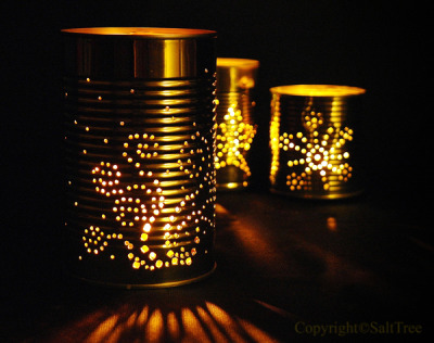 truebluemeandyou:  DIY Can Luminaries Tutorial and Templates from Salt Tree here. I've posted other can luminaries but the templates at the link are really handy and well done. For more luminaries and can DIYs go here: truebluemeandyou.tumblr.com/tagged/cans