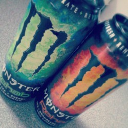 Got the new ones :) #monster #monsterenergy #rehab #greentea #tea #orangeade