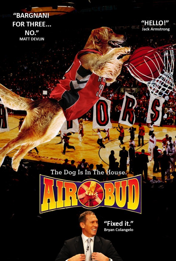 Photo: The Toronto Raptors' savior is here: Air Bud!
