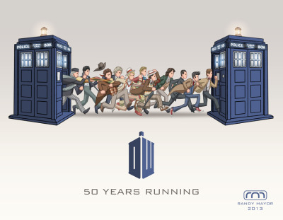 becks28nz:  Doctor Who 50th   by ~perpetualpanda