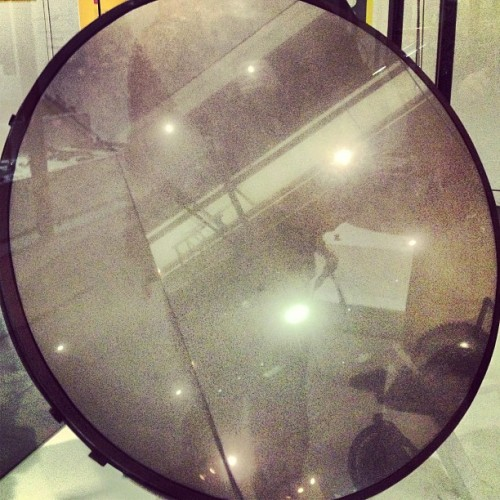 William Herschel's mirror.  (at Science Museum)