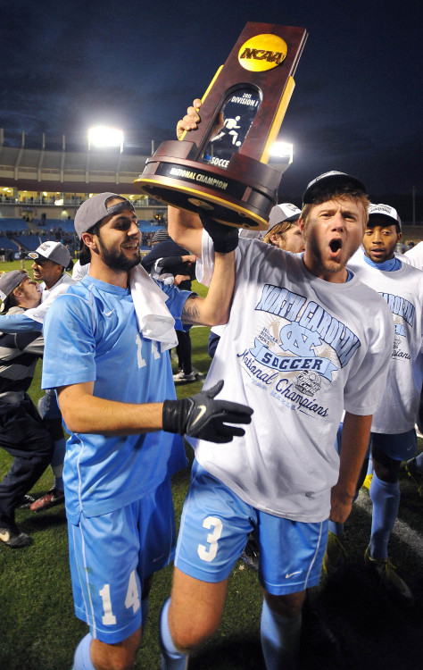 The late Kirk Urso captained the North Carolina team that won the 2011 College Cup in Hoover, Ala. His pro club, the Columbus Crew, will play UNC in a charity match this weekend in Greensboro. Photo by Jeffrey A. Camarati.