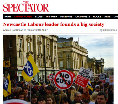 This was a piece about the cuts in Newcastle for The Spectator. I wrote it after senior Labour politicians got involved and the Council rethought some of its proposals. I also had a look through some of the spending commitments.