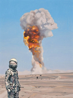 astronautdinosaur:  BOOM by Scott Listfield. Hey Tumblr folks! Are you on twitter? Follow me at @scottlistfield!