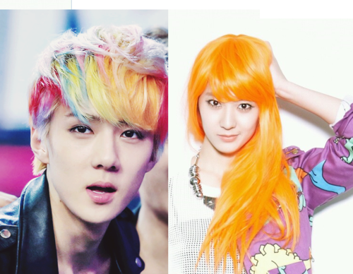 Fantastic 13 K Pop Idols With Gorgeous Hair Colors Styles Koreaboo Short Hairstyles For Black Women Fulllsitofus