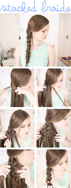 stacked braids #hairtutorial