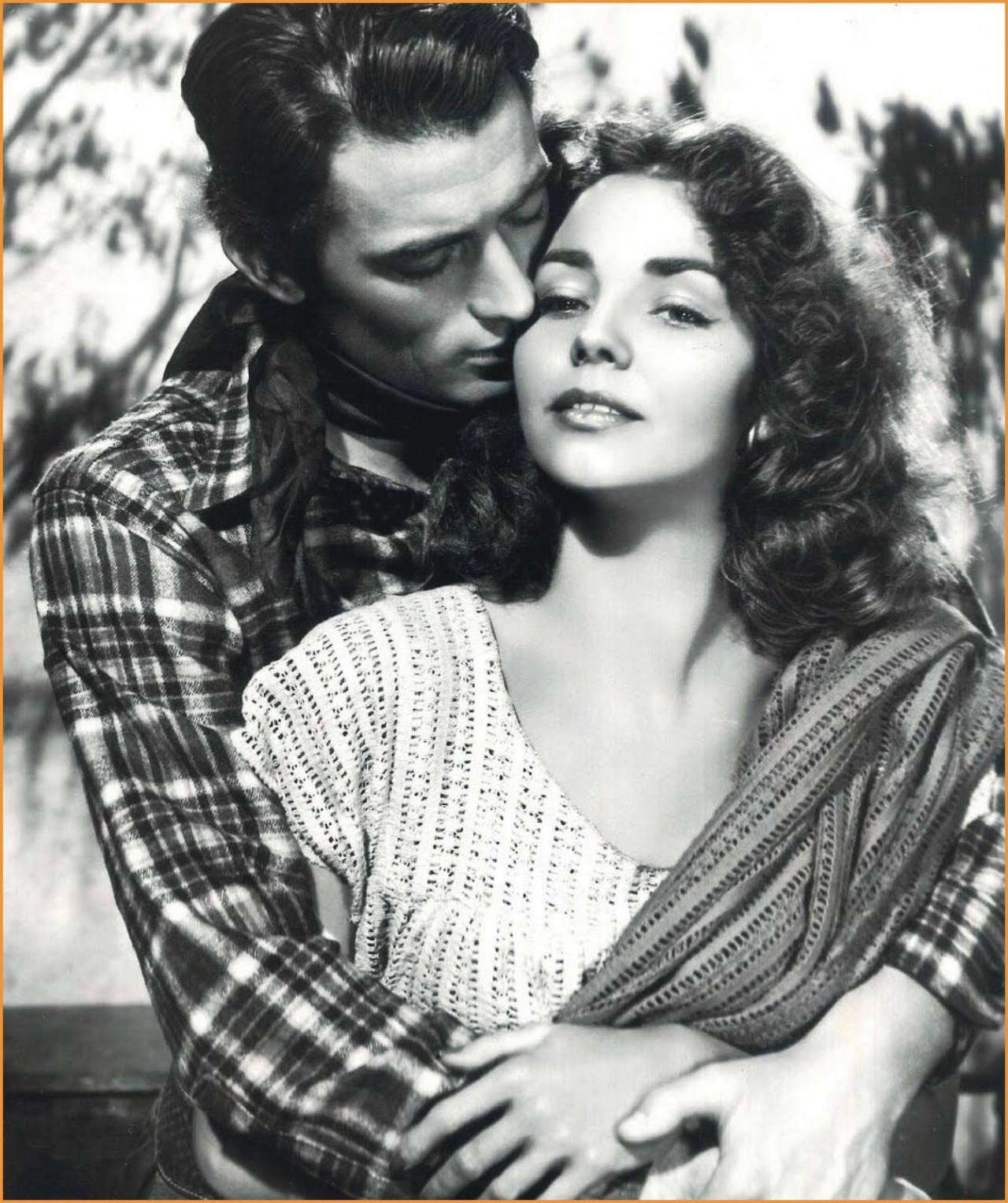 "Gregory Peck y Jennifer Jones en ""Duelo al Sol"", 1946"