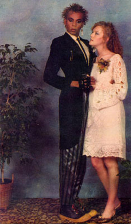 stacelings:  orchidslittlelady:  rupaul at his high school prom, 1983 he has more makeup on than his date :)  I wish he was my date…