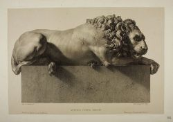hadrian6:  The awake lion.1830. from the monument to Clement XIII. Antonio Canova. engraving by Paolo Guglielmi. Italian. 1804-1862. http://hadrian6.tumblr.com
