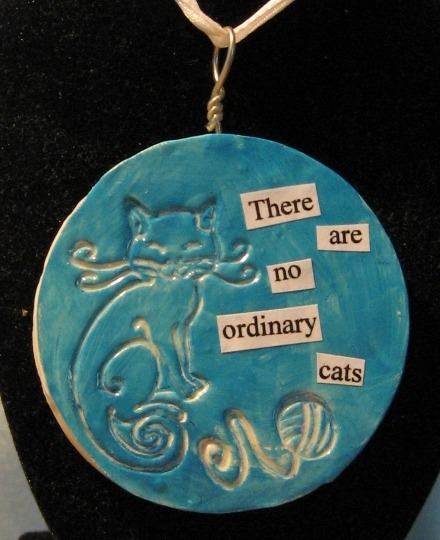 "Anyone who's had a cat knows this is true. The physical version of this pendant measures 3"" across."