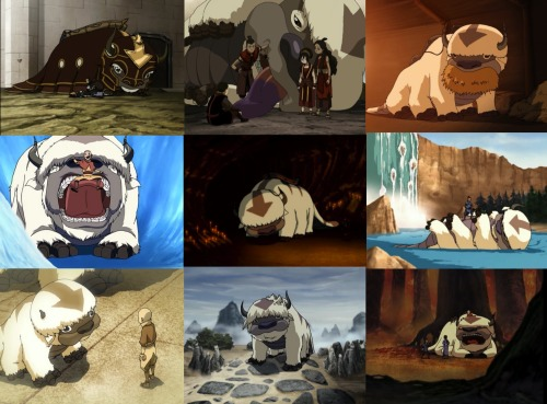 "avatar:the last airbender alphabet ↳A is for Appa""A sky bison is a companion for life"""