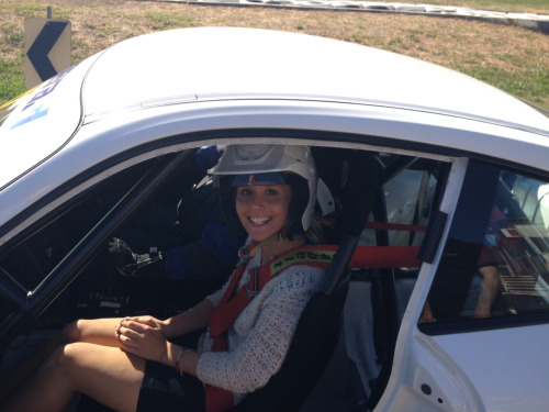 Right before the ride of my life - Hot laps in a Porsche 911 GT3 at Winton last week.