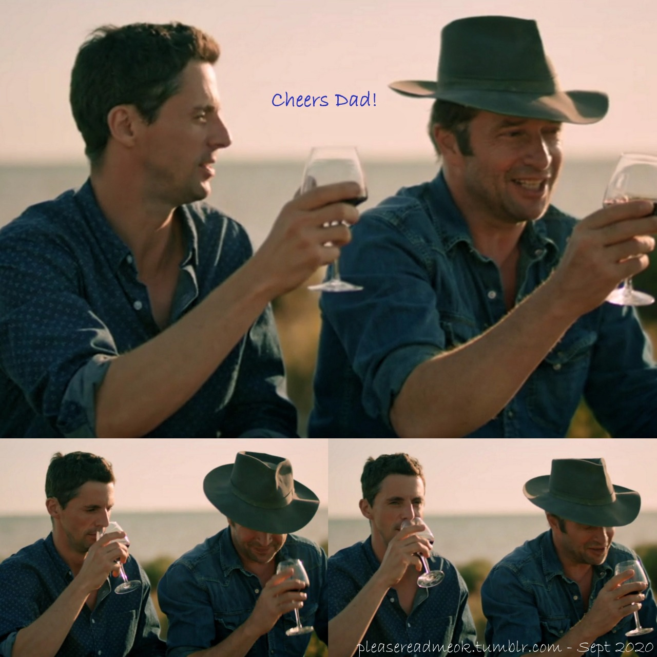 Looking forward to more father/son bonding in The Wine Show season 3 [and ADOW season 2.] [pic - TWS S2:05 edit] #matthew goode#james purefoy #the wine show  #a discovery of witches #adow