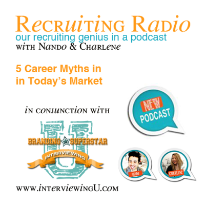 S2 E9: 5 Career Myths in Today's Job Market  Not all advice is good advice, especially when it comes to finding a new job. Nando + Charlene will help you decipher between the good and not so good by identifying 5 Career Myths in Today's Job Market.  Nando + Charlene will focus on common misconceptions about the job search and careers in general. They will bring 5 to light and give their POV on why.  5 Career Myths in Today's Market Highlights in this episode: whether an advanced degree is important (or not so important) is it really who you know? your value, both in terms of salary and qualifications Enjoy the podcast and for more info check out their website Interviewing U