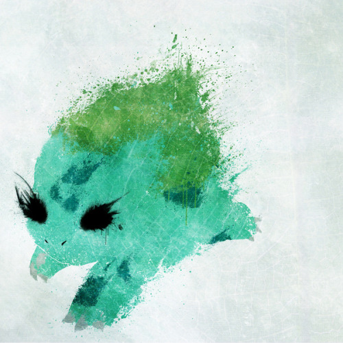 insanelygaming:  Bulbasaur Created by Melissa Smith Deviant Art ||| Facebook ||| Society6