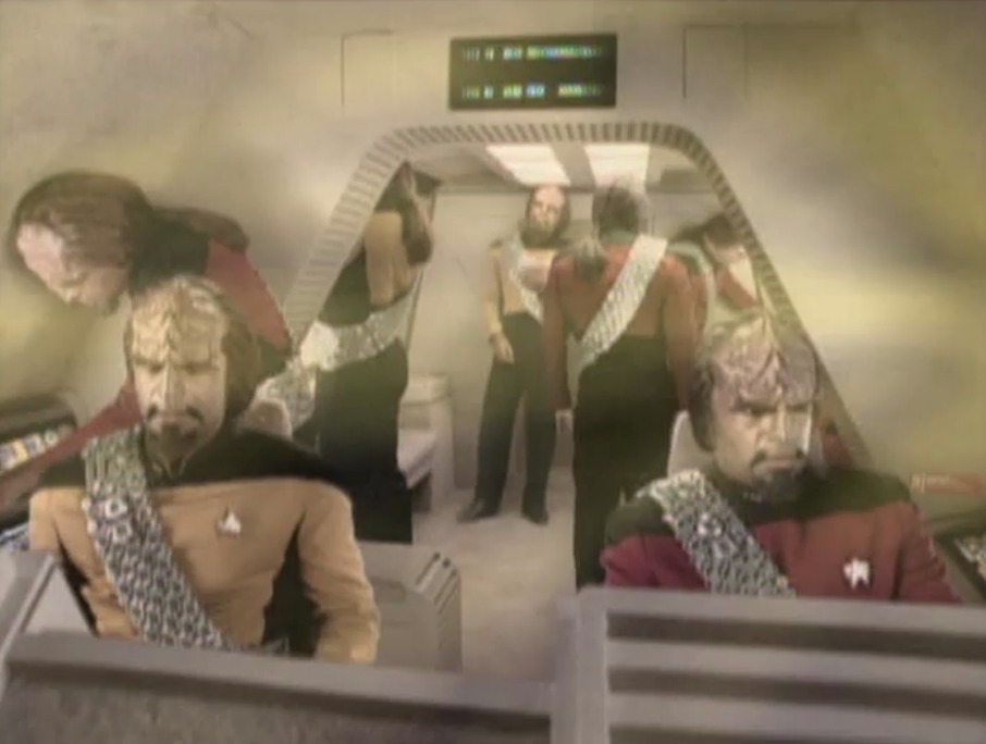 "geekboots:  raptorific:  What's the plural of ""Worf?"" Is it ""Worves?"" There's an awful lot of Worves in this picture.   WORVES"