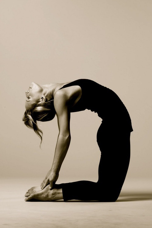 Camel pose - opens the throat and heart chakra