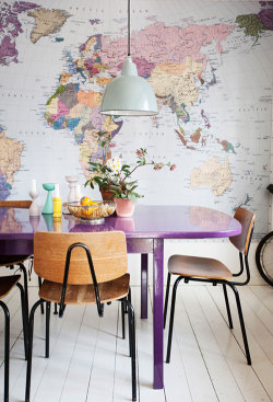 can I have a giant map on my dining room wall please?