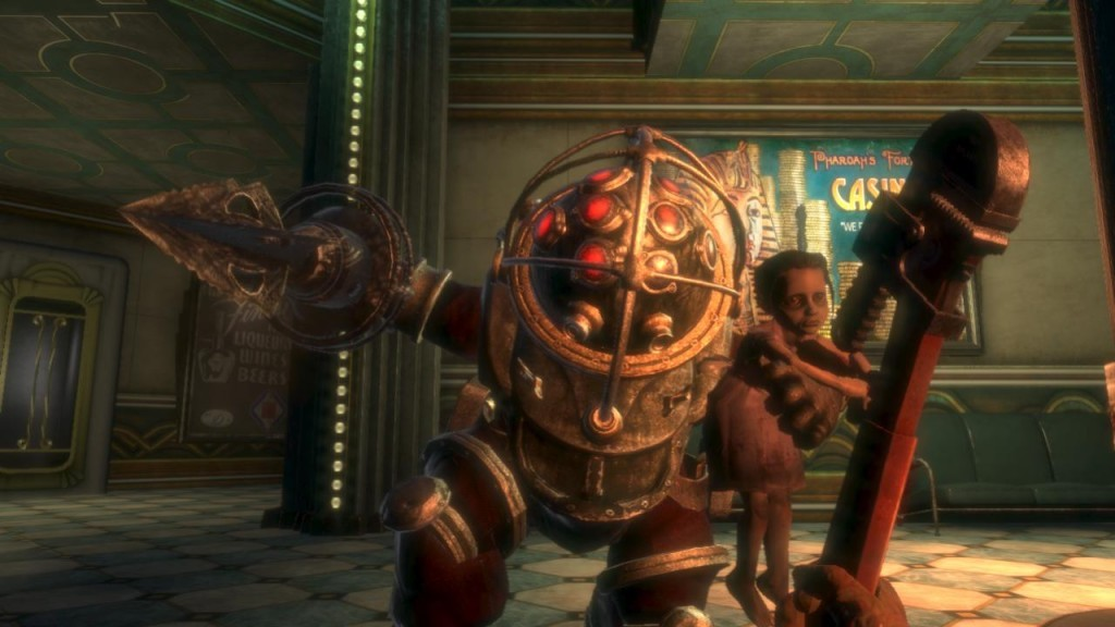 Bioshock Complete! One more game crossed off my list. I absolutely loved this game, would recommend this to anyone who loves action, fps, thriller (its sometimes creepy but still tame), and dentists.