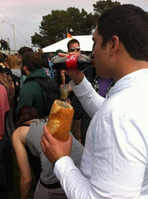 funnyordie:  BYOB: Bring Your Own … Bread  is the girl in front of him puking??