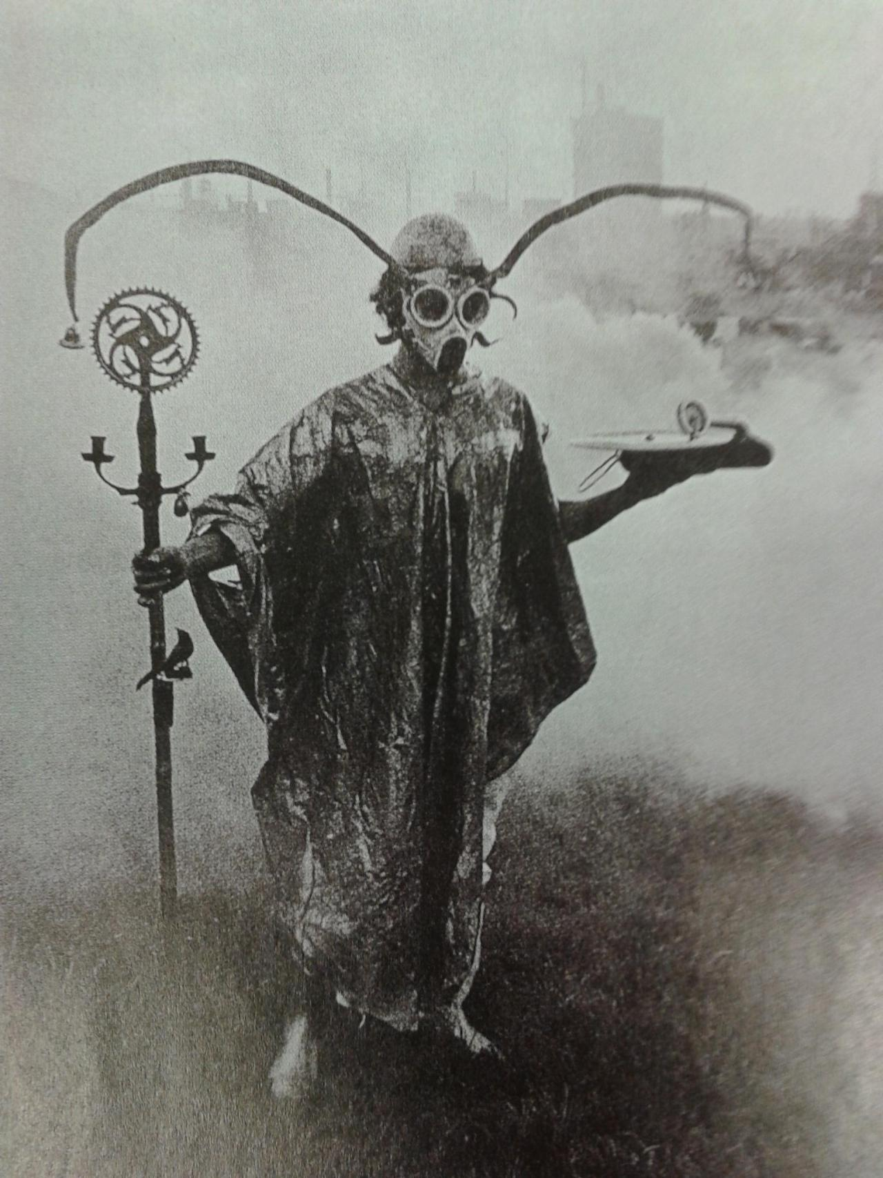graveyarddust:  Urban Druid performing spirit sorcery in park, circa year 1900.