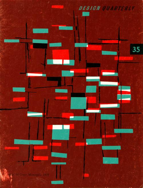 kronstadt21:  Cover of Design Quarterly 35. Published by the Walker Art Centre, Minneapolis, 1956. Vintage Scans
