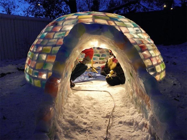 Rainbow igloo. Here's how.