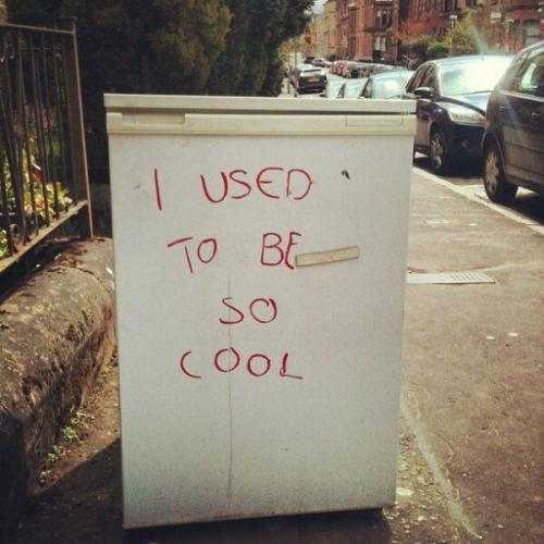 scotianostra:  Abandoned refrigerator spotted on the streets of Glasgow