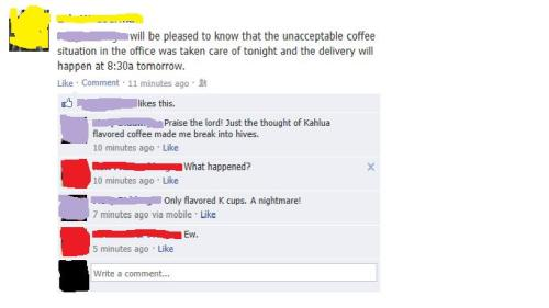 whitewhine:  A K-cup nightmare  You could even call it…. a Katastrophe. YEAHHHHHHHHHHHHHHHHHHHHHHHHHHHHHHHHHHH