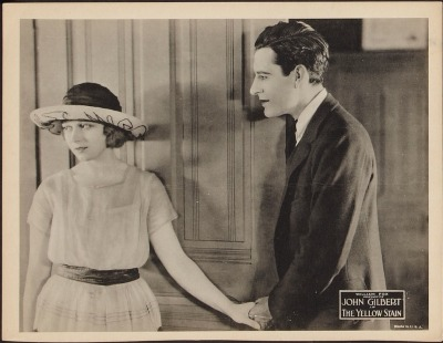 Lobby card for The Yellow Stain (1922). Click to enlarge. Sold here.
