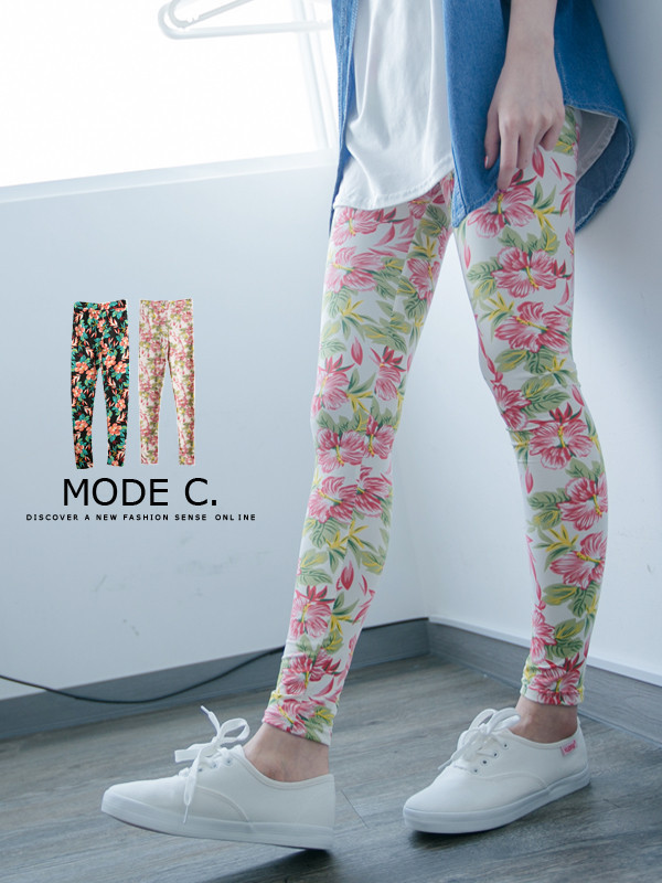 Super cute and slimming floral leggings for $10.96! Find it at www.mexyshop.com