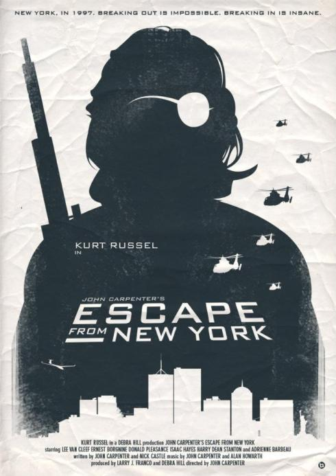 Escape From New York alternative movie poster designed by Alain Bossuyt