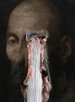 blue-voids:  Nicola Samori - Ligne Robuste (detail), oil on wood, 2012