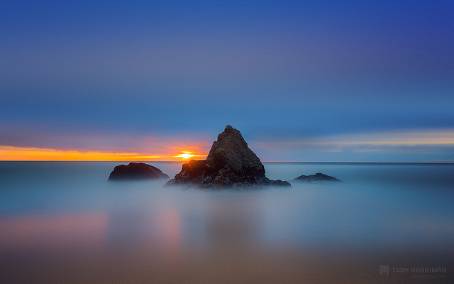 Gray Whale Cove Sunset on Flickr.Via Flickr: Gray Whale Cove Sunset Just spent the whole day trying to figure out RAM issues with photoshop. It wouldn't even let me open preferences without the error popup. So after uninstalling, reinstalling and then running the updates. I think it is back to working. So I got to finish this image I was working on in Lightroom. Took this the other night with +Casey McCallister at Gray Whale Cove State Beach. This was also process with Color Efex Pro 4Website | facebook | Google+ | Blog | Stipple