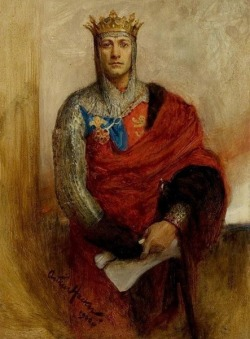 wasbella102:   The actor Lewis Waller as Henry V, painted by Arthur Hacker in 1900