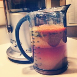 A big cup of #healthy #juicing.