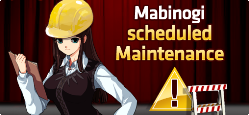 mabinogina:  Dear Players, We will be performing scheduled maintenance on all servers on Wednesday, May 22, 2013. During this time the game will be unavailable. Maintenance will start at 7:00 A.M. PDT, and is scheduled to last approximately 4 hours. -Time- Wednesday, May 22, 2013Pacific: 7:00 A.M. - 11:00 A.M.Eastern: 10:00 A.M. - 2:00 P.M.To address the following: Server Restart Shamala 2: Nightmare PrologueDemonic BoxPillow Fight EventStormy NimbusHot Time - Saturday May 25 at 7:00 PM Pacific   The Mabinogi Team