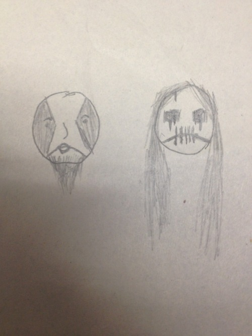 the-frayed-ends-ofsanity:  I got bored in school so I drew Abbath and Seregor I am not an artist.