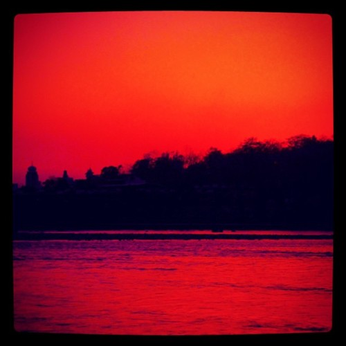 Gangas (Ganges) Sunset - Rishikesh, India (at Ganga River)