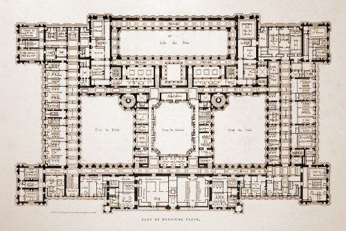 archimaps:  Floor plan of the Hôtel de Ville, Paris