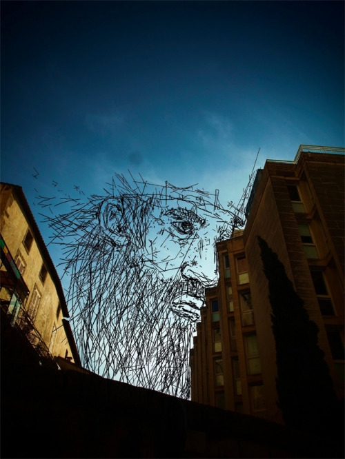 #urban #streetart (via Sky Art: Thomas Lamadieu Illustrates in the Sky Between Buildings | Colossal)