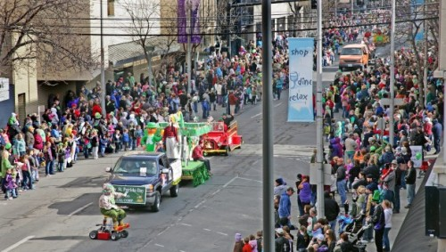 The St. Patrick's Day Parade rolls down 3rd Avenue North in Billings. http://bit.ly/YklCUq