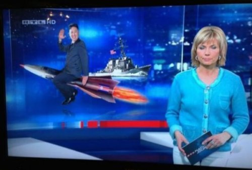 How German News Station Depicts the North Korean Conflict International diplomacy rly brings tha LOLz.