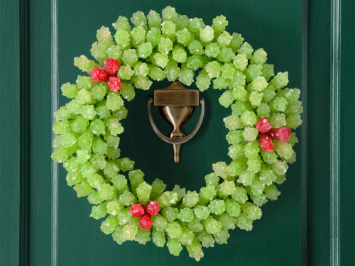 From candy to paper to pinecones to metal, holiday wreaths can be made from a wide array of materials, and they capture the unique spirit of each home they adorn.  We're certainly inspired by this fab collection of wreath-making tutorials!