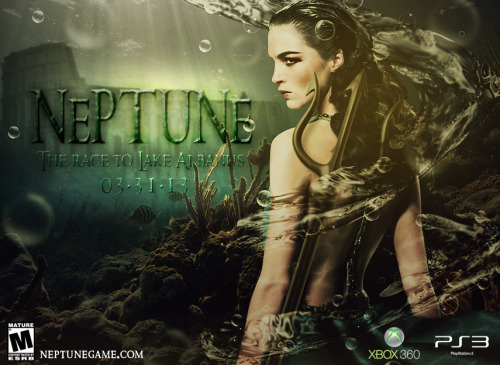 "The theme of this weeks weekly design challenge was, ""Neptune."" This was my take on that. Here was my starter image http://goo.gl/m5sSv"